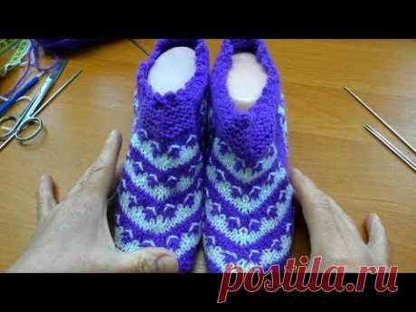 Следочки-носочки без швов
