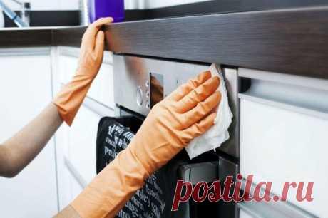 Народные средства для уборки на кухне.