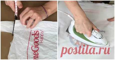 Практичная и полезная вещь для дома из обычных пакетов ...