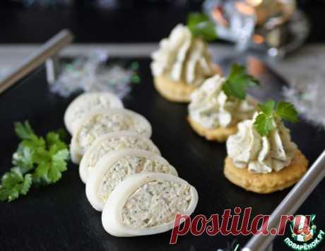 Кальмары, фаршированные сырным муссом – кулинарный рецепт