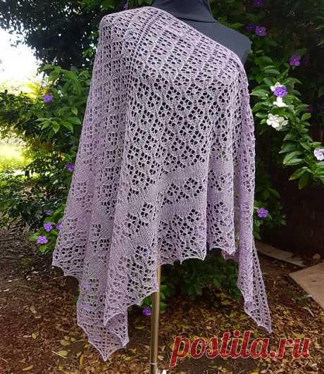 Шикарная шаль Мирбелия спицами. Дизайн Ирины Любаевой, Вязание для женщин