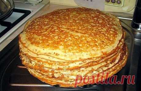 The recipe of pancakes on kefir which turn out even at those at whom they never turn out)\u000d\u000a\u000d\u000aIngredients\u000d\u000a\u000d\u000ahalf of liter of kefir or curdled milk\u000d\u000aglass of milk\u000d\u000a1 egg\u000d\u000a1-2 tablespoons of sugar\u000d\u000asalt half of teaspoon\u000d\u000asoda teaspoon\u000d\u000aflour\u000d\u000avegetable oil\u000d\u000a\u000d\u000aWay of preparation\u000d\u000a\u000d\u000aIn a pan we pour the kefir which is warmed up to a warm, but not hot state (or we warm up in a pan). There we spread sugar, flour, salt, soda, egg and it is carefully stirred. To put torments so much that t...
