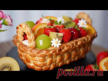Рецепт восхитительного фруктового торта l Ванильный светлый крем l Фруктовый компот