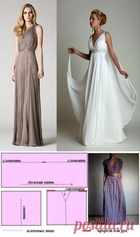 Платье в греческом стиле своими руками — Сделай сам, идеи для творчества - DIY Ideas