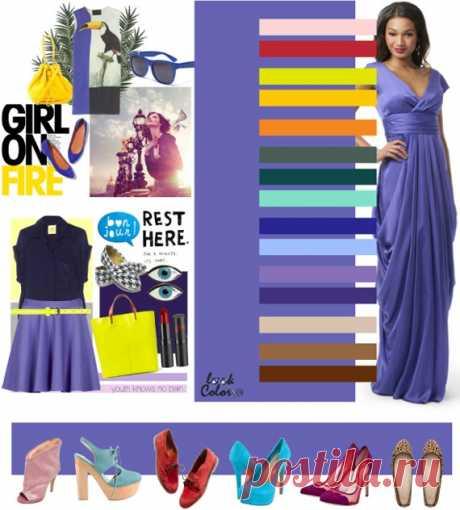 СИНЕ-СИРЕНЕВЫЙ цвет (правильное сочетание цветов в одежде) ине сиреневым сочетаются такие цвета, как нежно-розовый, клубничный, желтый, абрикосовый, светло-оранжевый, цвет полыни, малахитовый, ментоловый, индиго, нежно-голубой, аметистовый, серо-фиолетовый, желто-бежевый, желто-коричневый, коричневый