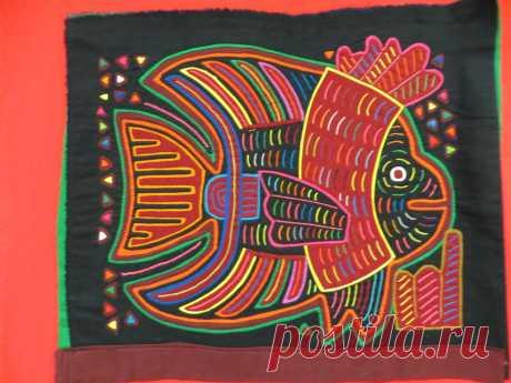 Старинное рукоделие: молы индейцев племени Куна – Ярмарка Мастеров