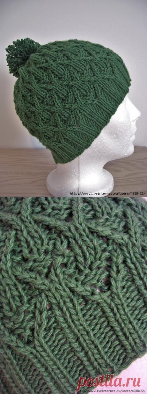 Теплая женская шапка. Wickerwork Hat by Gretchen Tracy.