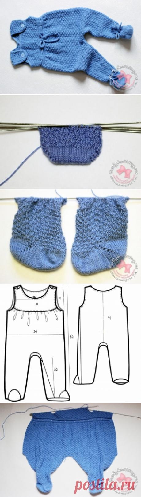 Комплект для новорожденного малыша спицами (часть 1- ползунки)   Вяжем для самых маленьких! Дневник вязания Владимировой Татьяны.