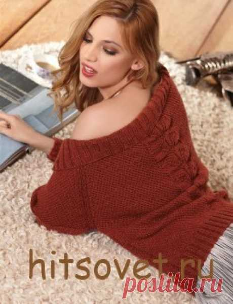 Knitted pullover with Carmen's mouth