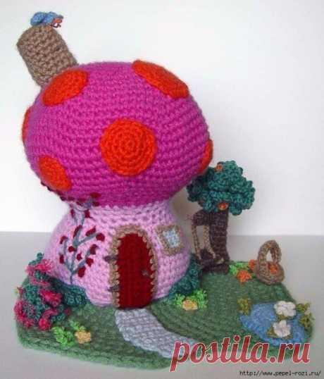 Игольницы в виде домиков-грибочков