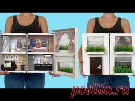 DIY Miniatura - Casa de Boneca na Caixa de Sapatos