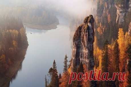 River Usva, Devil's finger... Perm Krai, Urals...