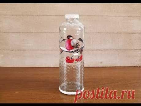 Ваза из бутылки от сока. DIY. Vase from a bottle of juice.