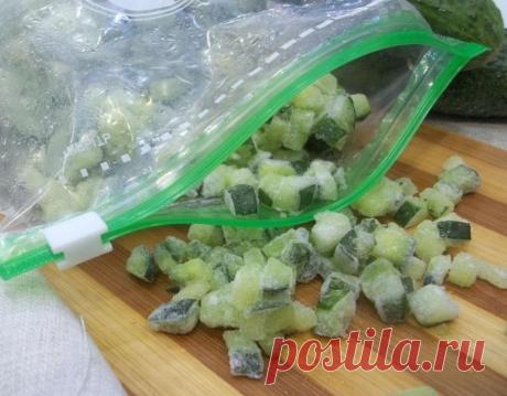 Как заморозить огурцы для салата, чтобы они были не водянистыми | Дачница | Яндекс Дзен