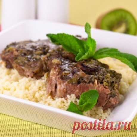 Mutton, marinated in a kiwi and mint