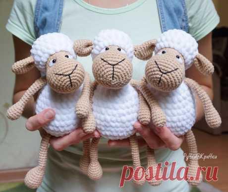 Зефирные овечки амигуруми | AmiguRoom