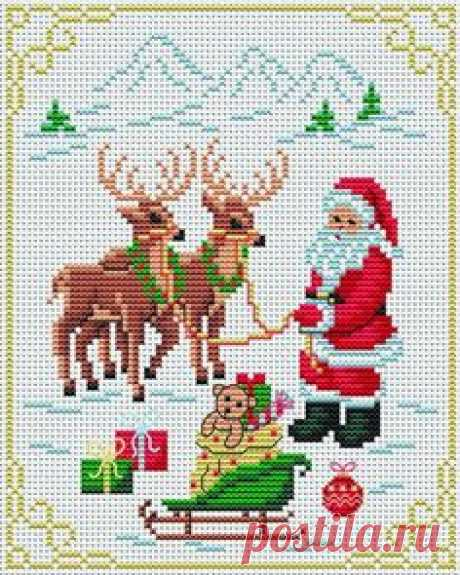 Рождественские Схемы для вышивки крестиком бисером