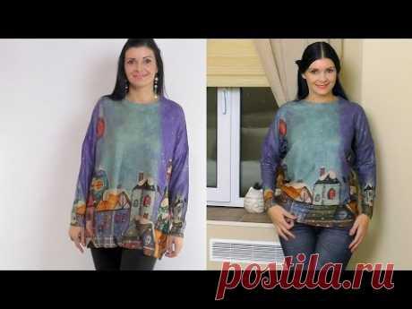 (7) Переделка свитеров. Как перешить свитер? - YouTube