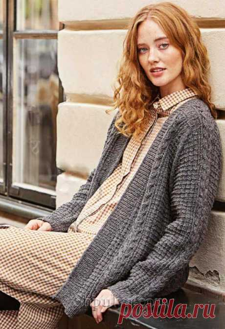 Жакет с завышенными плечами фасона «Седло» — Shpulya.com - схемы с описанием для вязания спицами и крючком