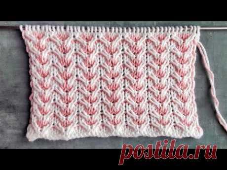 Простой жаккард для вязания свитеров, детских комбинезонов, шапок / Узор спицами