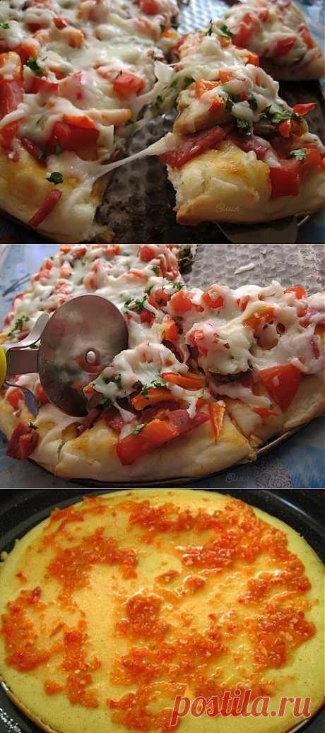Пара рецептов быстрого теста для пиццы