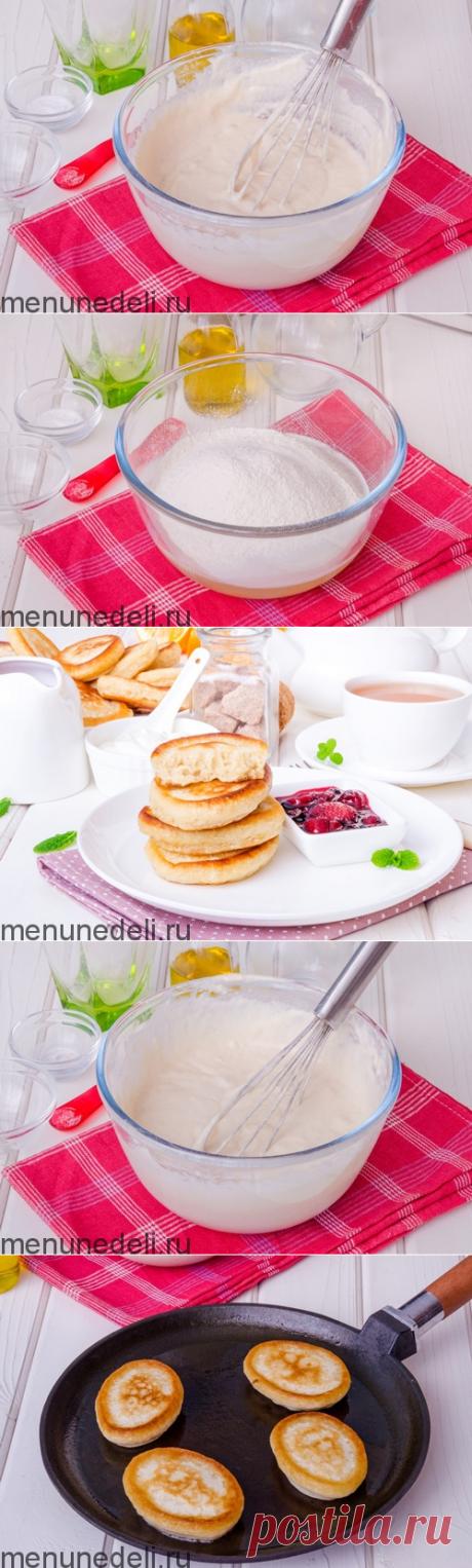 Рецепт оладий на сыворотке без яиц / Меню недели