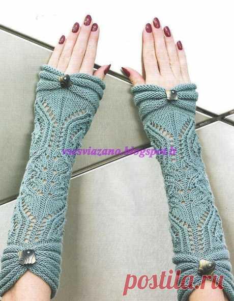 Нарядные митенки к свитеру с короткими рукавами — Сделай сам, идеи для творчества - DIY Ideas