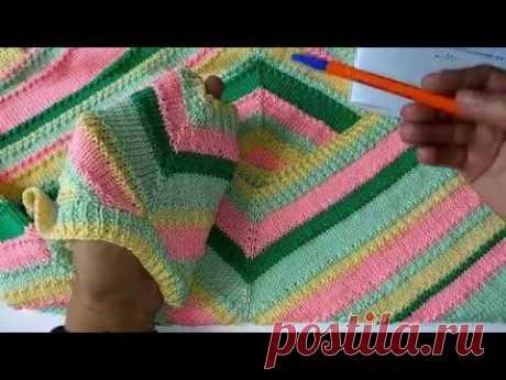 Летний топ спицами из Yarn Art Rapido. Описание
