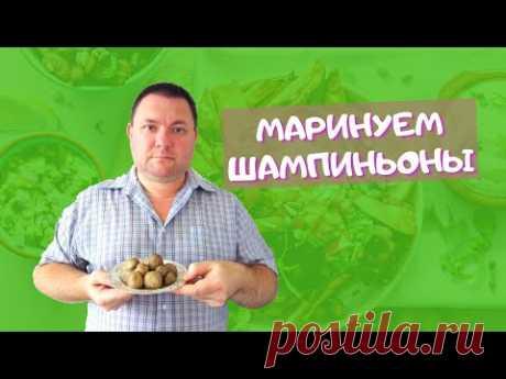 МАРИНОВАННЫЕ ШАМПИНЬОНЫ (грибы) за 7 минут. Как вкусно мариновать шампиньоны. Pickled champignons