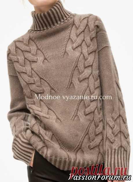 спрашивали схему вязания красивого пуловера. выставляю, может кому пригодится!