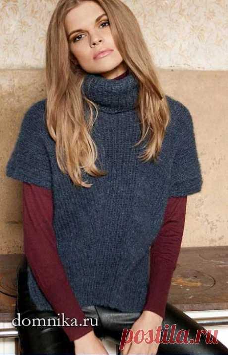 Стильный жилет спицами I вязание для женщин модели для офиса