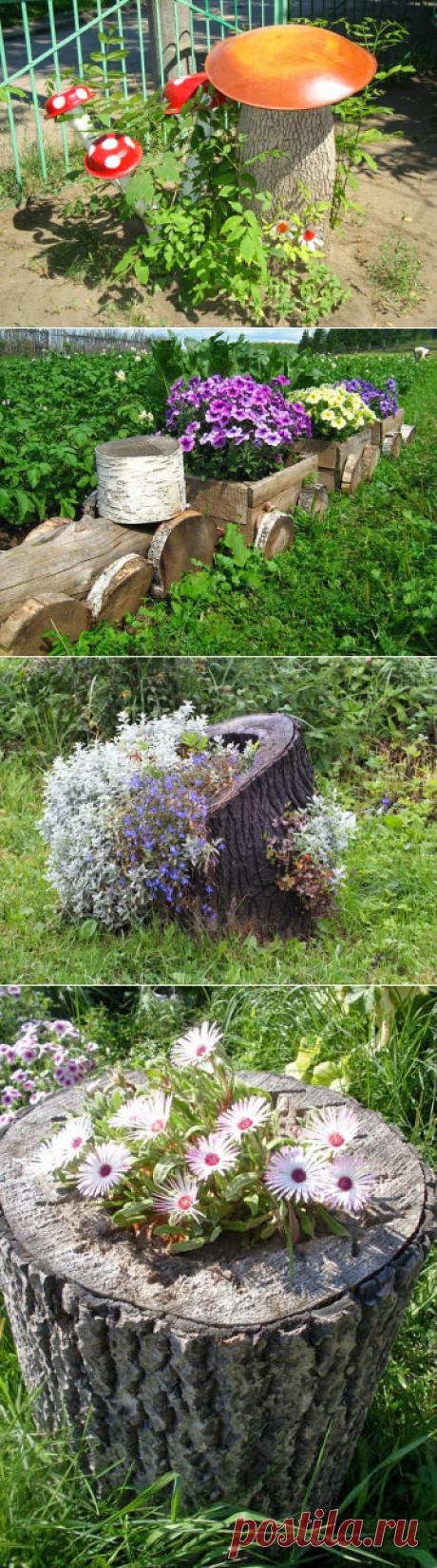 Интересные идеи для дачи и сада из дерева.