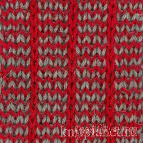 Planet of Knitting   Two-color bilateral pattern spokes. Scheme of a pattern.