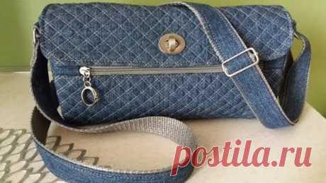 Джинсовая -стеганая сумочка (своими руками) - МК бесплатный...