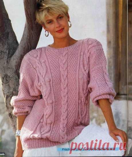 Не пропустите очередную подборку джемперов из ретро выпусков немецких журналов + мастер-класс узора для шапок. | Asha. Вязание и дизайн.🌶 |