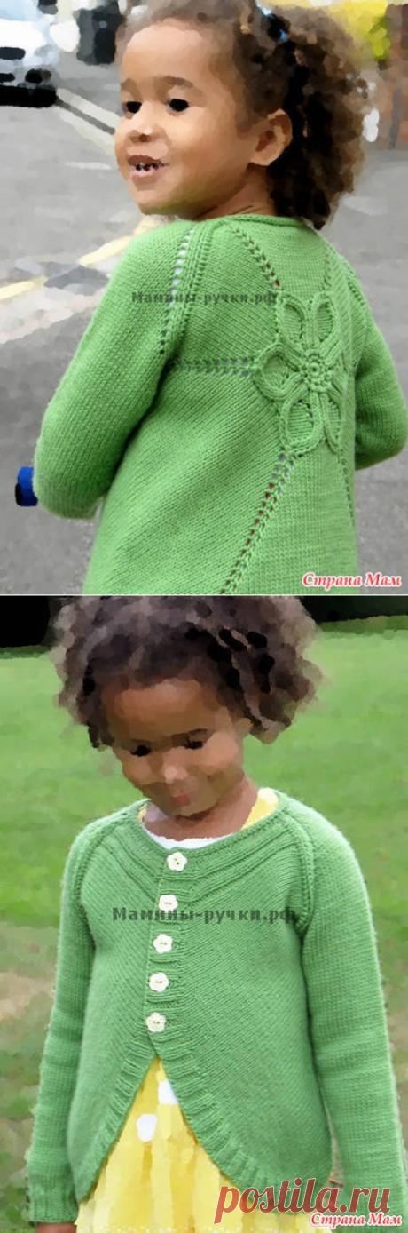 "Кардиган ""Цветок"" - Вязание для детей - Страна Мам"