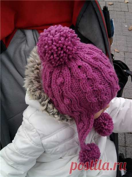 Детская шапочка (спицы) МК.