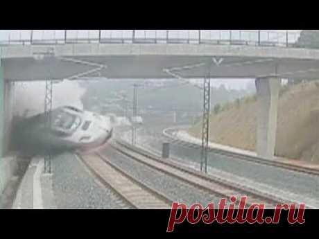 Первое видео катастрофы в Испании - YouTube