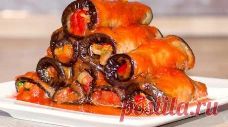 Новогодняя закуска из маринованных баклажанов
