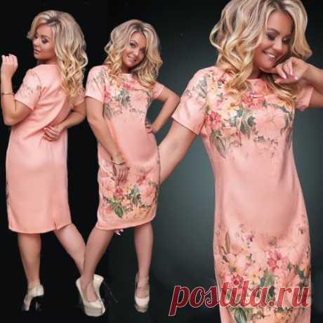 Платье с цветами большой размер : коллекция 48+ очень красивые летние платья. Скидки.