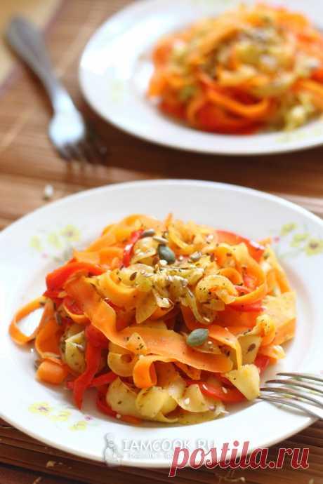 Овощная лапша (из овощей) — рецепт с фото пошагово +видео