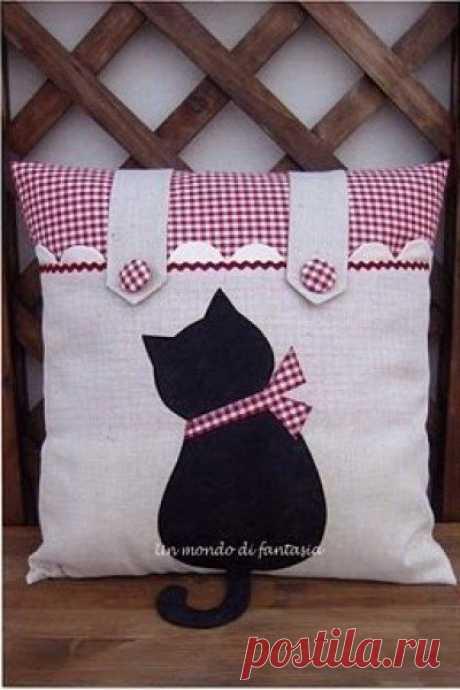 Шьем подушку с котиком — DIYIdeas