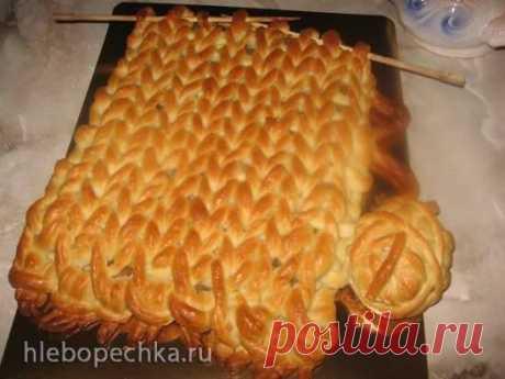 """Пирог """"Бабушкин шарфик""""- очень красивый, просто великолепно оформленный пирог!"""