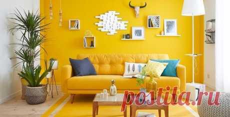 Желтый цвет в интерьере - как и с чем он лучше всего сочетается? Покажем лучшие дизайнерские палитры желтого и фотографии удачных интерьеров.   Смотрите полную подборку сочетаний желтых стен с мебелью, полами и дверями  #желтыйвинтерьере#желтыйсочетанияцветов#палитрыжелтого#счемсочетатьжелтый#СПБ#Stonefloor