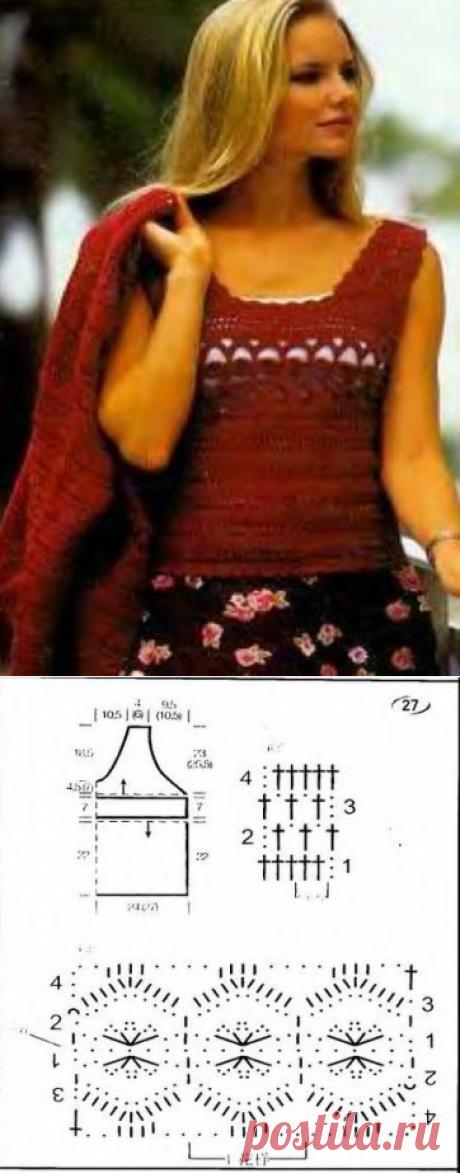 1209 - майки, топи - В'язання для жінок - Каталог статей - Md.Crochet