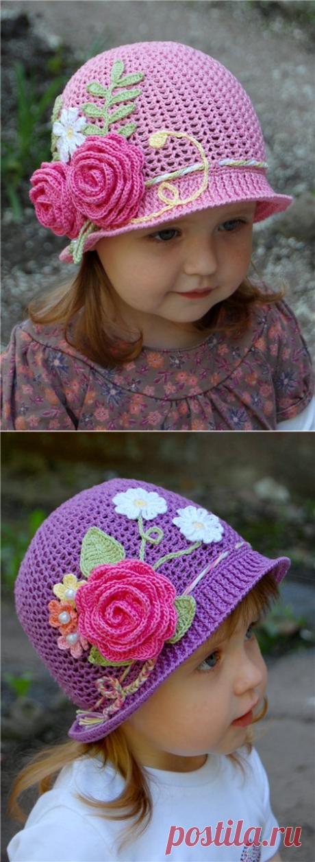 Шляпка - клумба для девочки МК