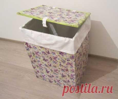 Ящик для белья из картона и бумажных салфеток