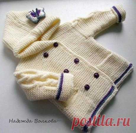 Jacket for the girl spokes from Nadezhda Volkova