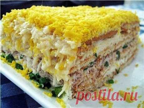 Рыбный торт-салат рецепт