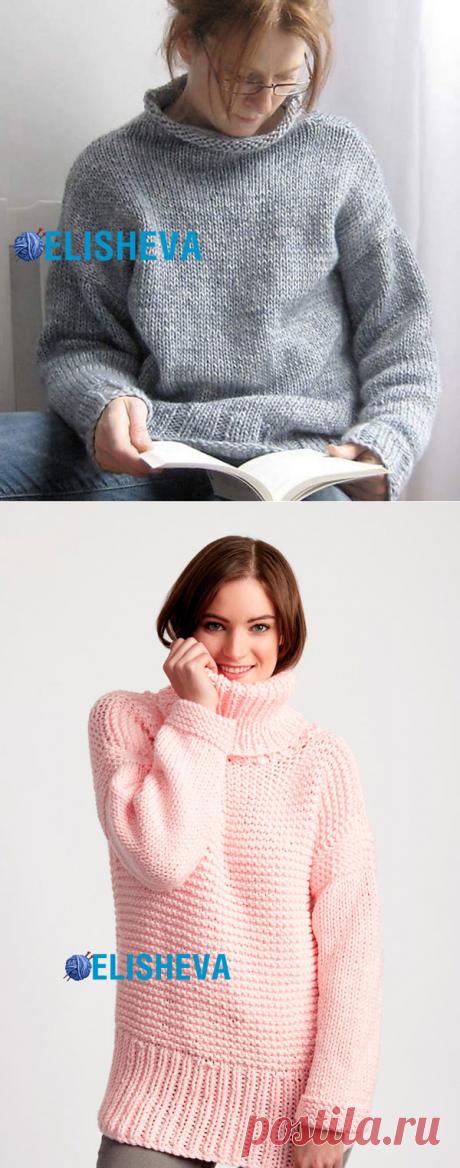 Удлинённые пуловеры вязаные спицами 2017 с описанием и видео   Блог elisheva.ru